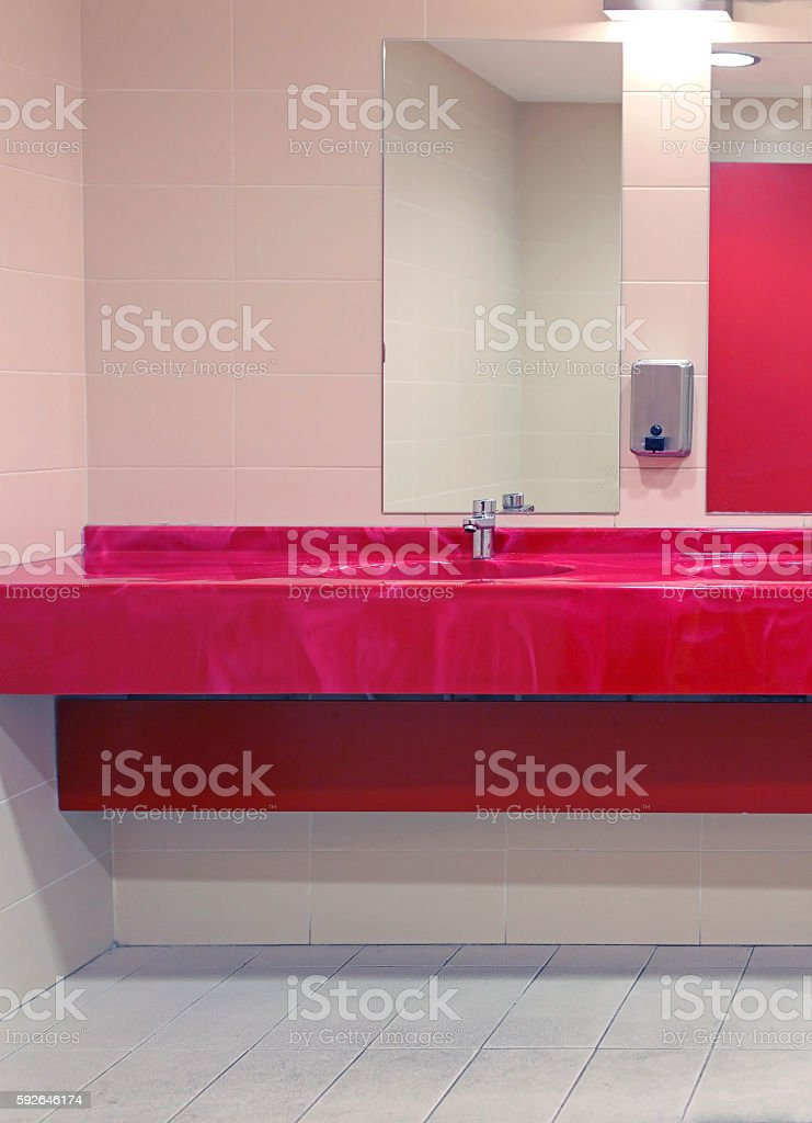 Public Toilet Sink Royalty Free Stock Photo