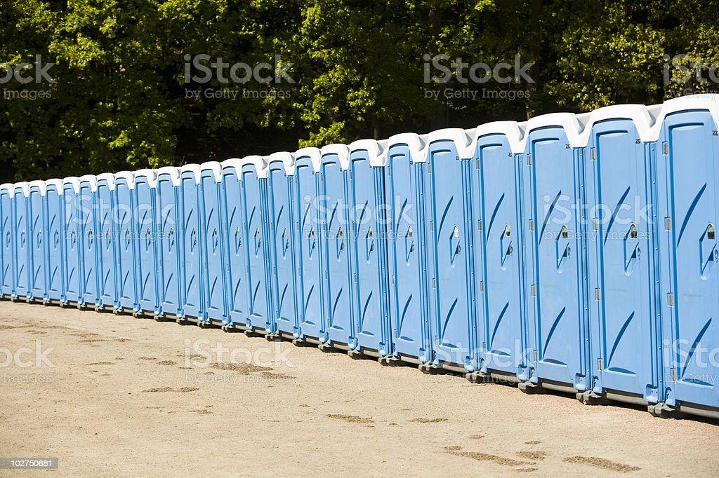 Public toilets stock photo