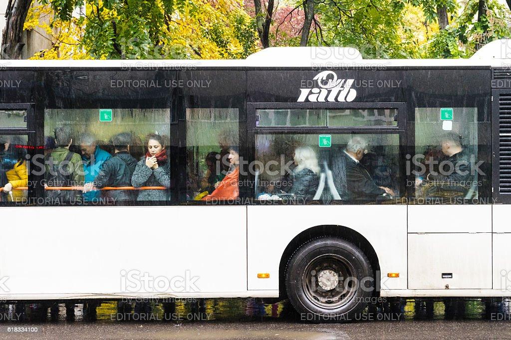 Public transport bus stock photo