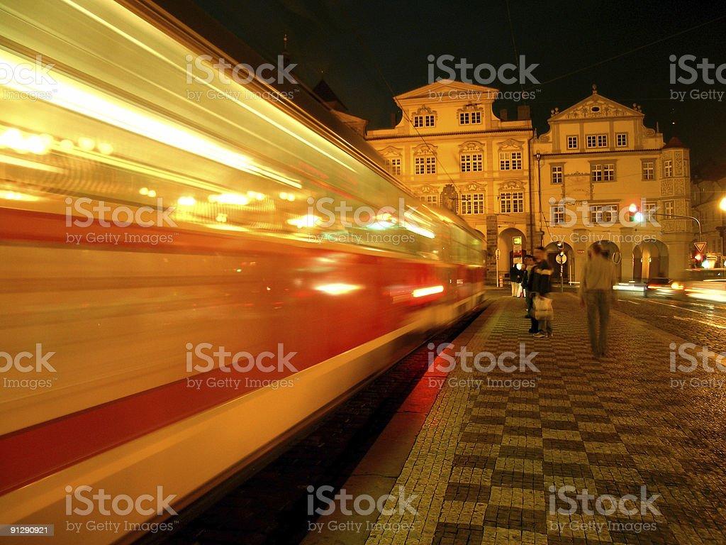Public Transport in Prague royalty-free stock photo
