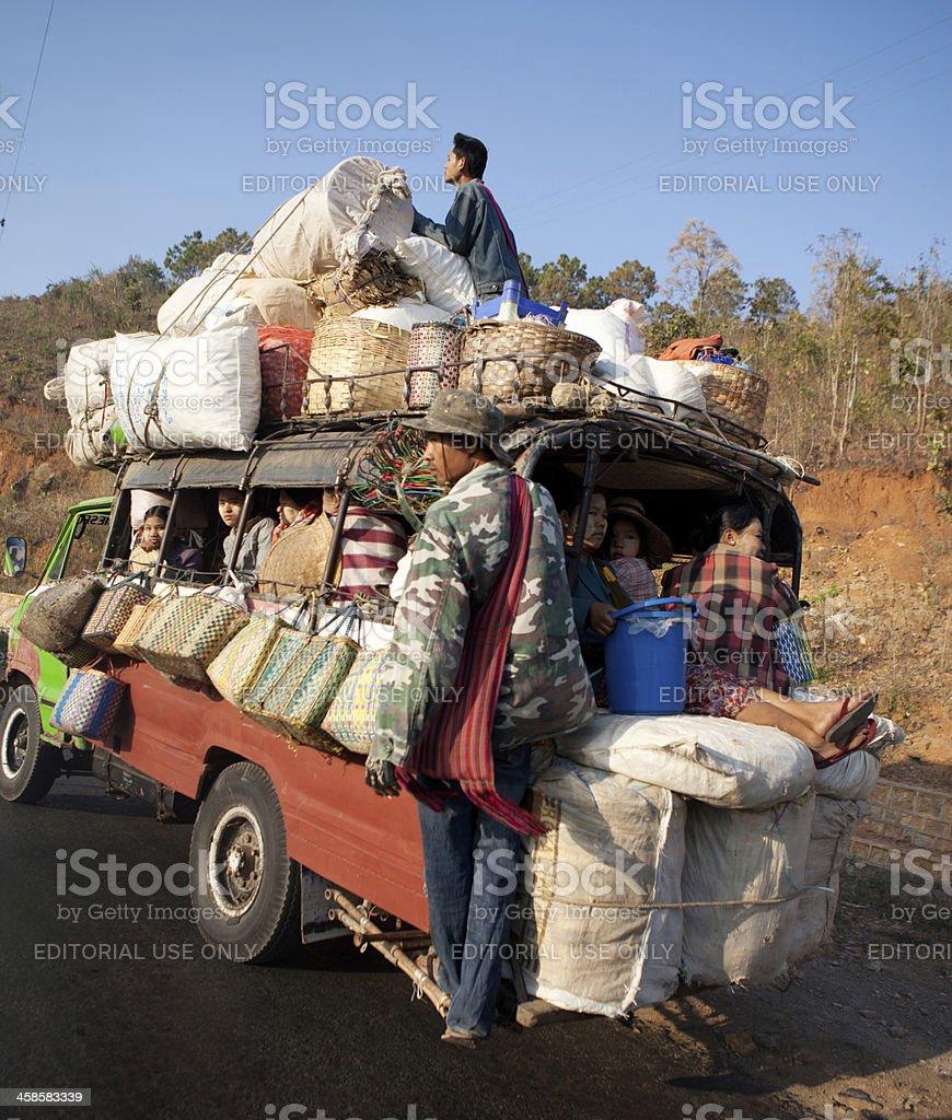 Public transport, Myanmar stock photo