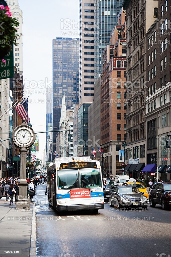 Public transportation in New York City stock photo