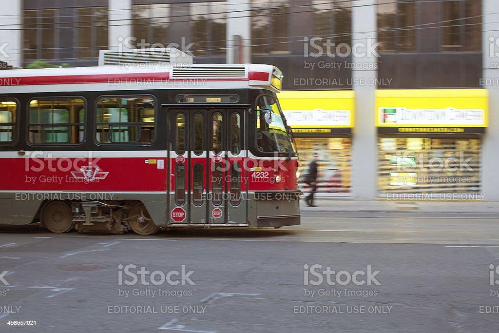 public transportation streetcar in toronto royalty-free stock photo
