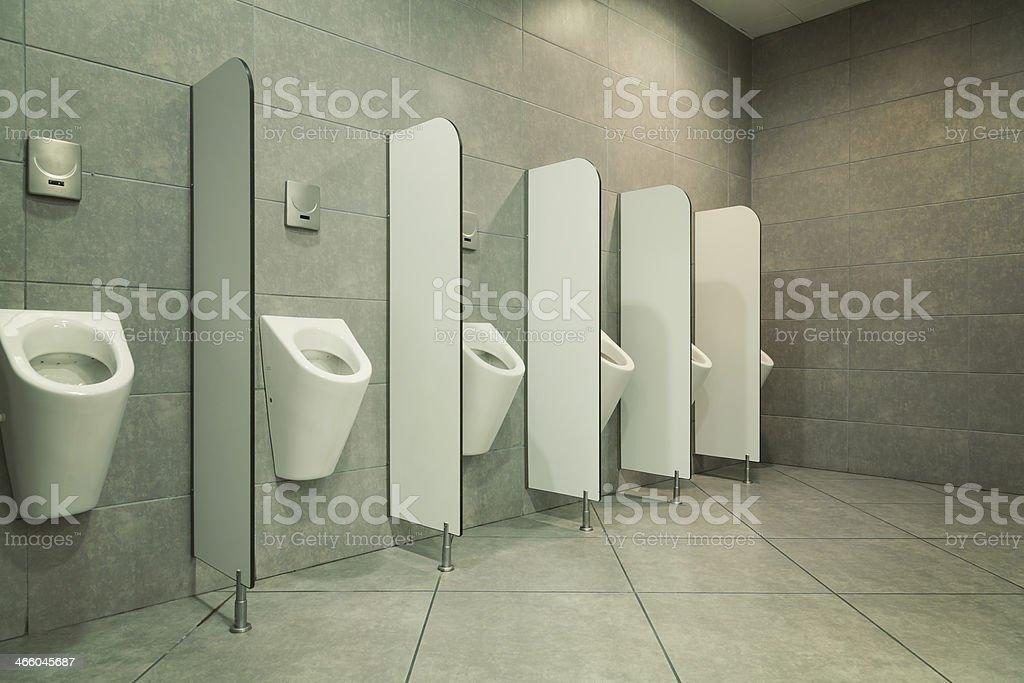 Public Urinal - Men's Room stock photo