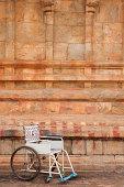 Public use wheelchair, Tanjore temple, Tamil Nadu