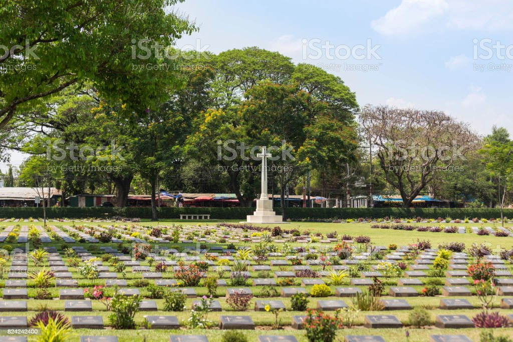 public war cemetery of allied prisoners of world war II stock photo