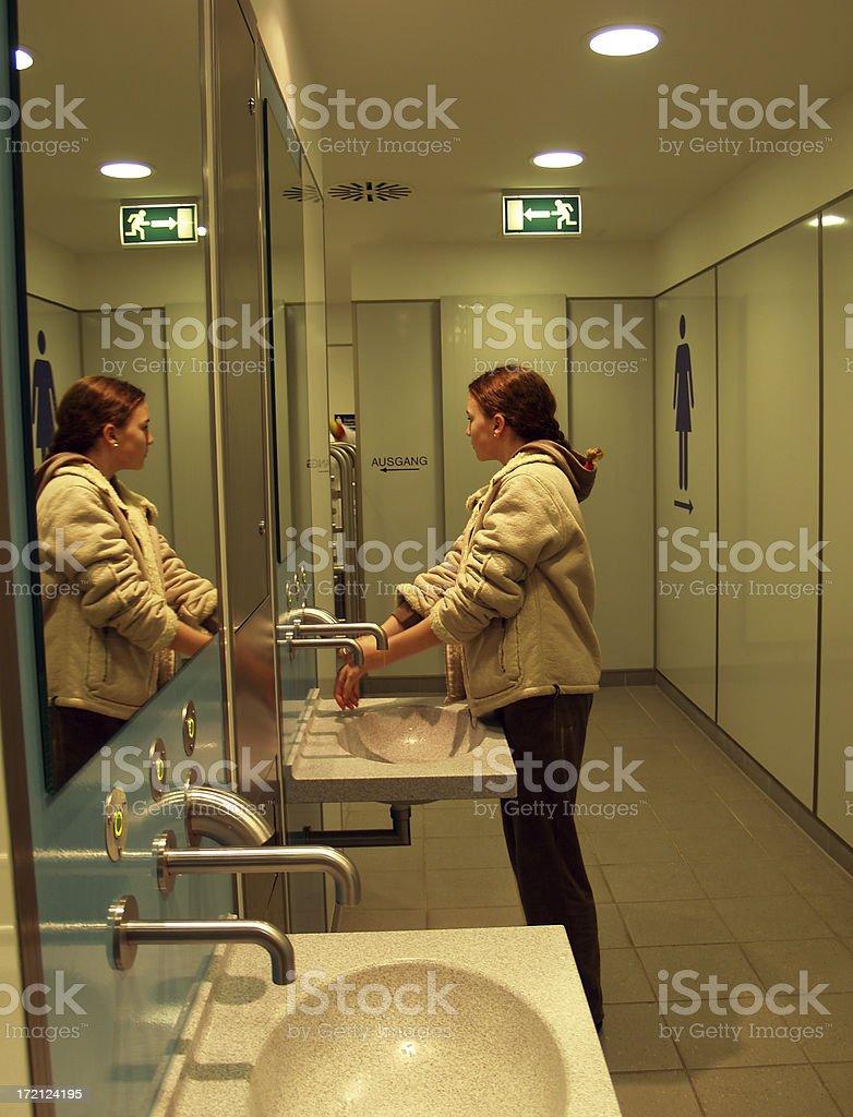 Public Washingroom stock photo