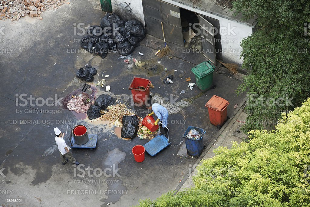 Public Waste Collecting Facility royalty-free stock photo