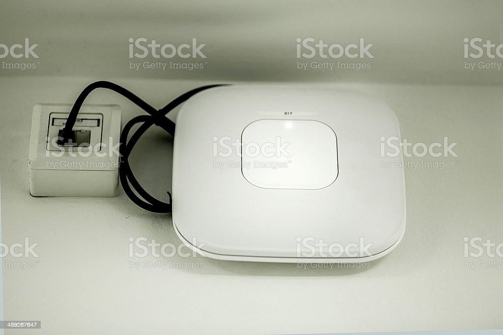 public wlan router stock photo