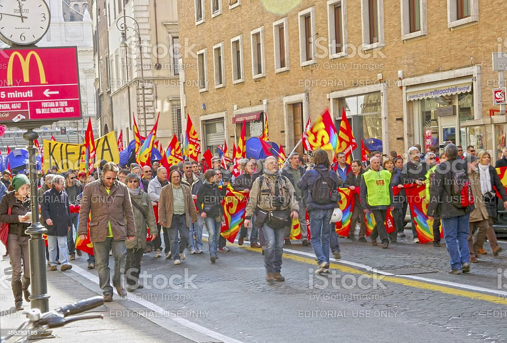 Public workers strike royalty-free stock photo