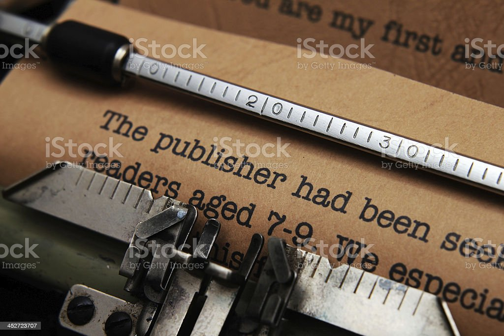 Publisher letter royalty-free stock photo