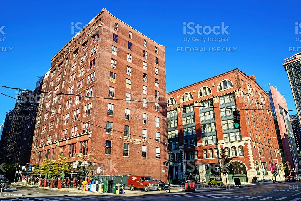 Publishing Houses in Printers Row, Chicago stock photo