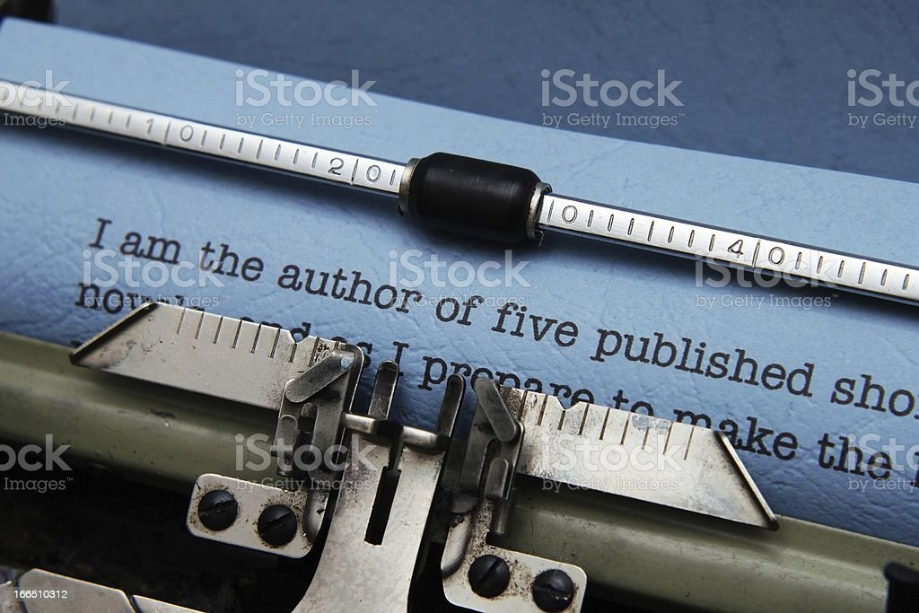 Publishing letter royalty-free stock photo