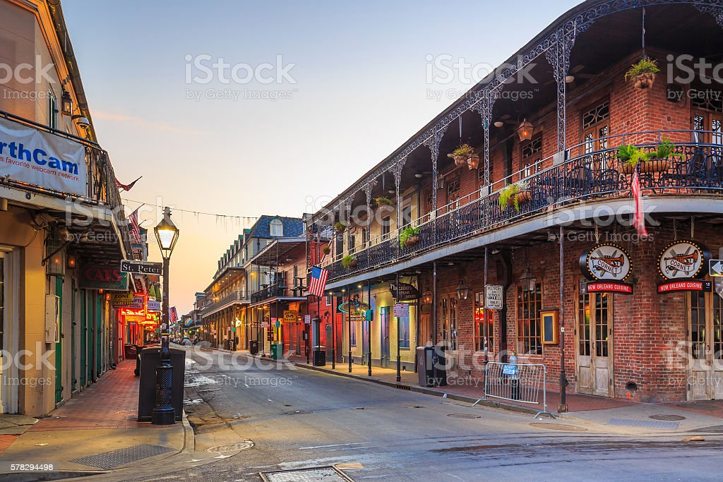Pubs and bars  in the French Quarter, New Orlea stock photo