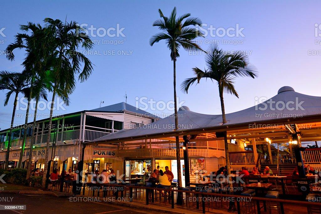 Pubs and restaurants  in Port Douglas Queensland Australia stock photo