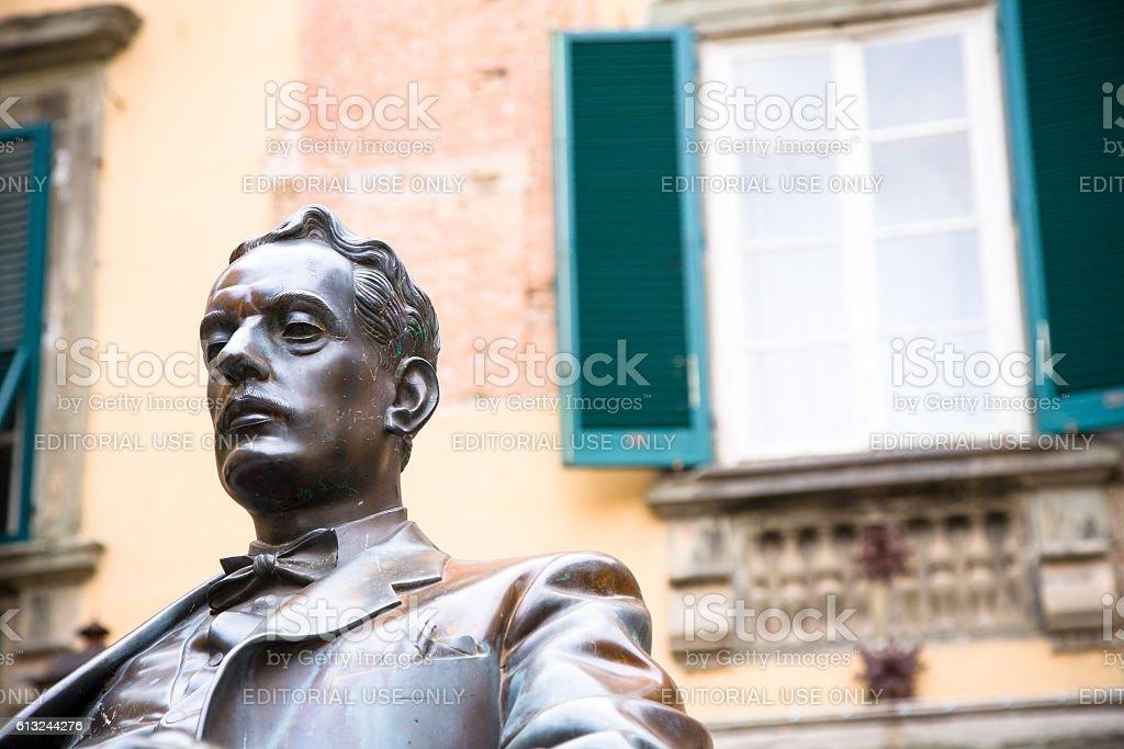 Puccini statue stock photo