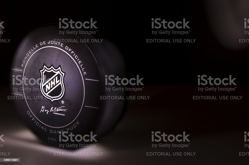NHL Puck stock photo