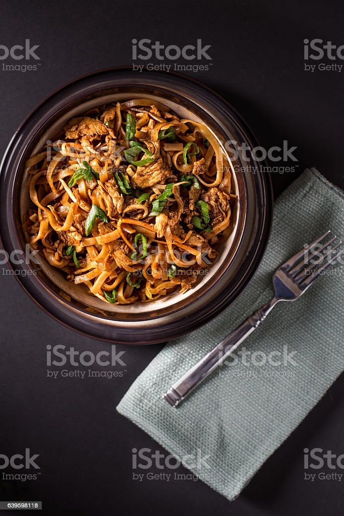 Pud Thai in a Bowl stock photo