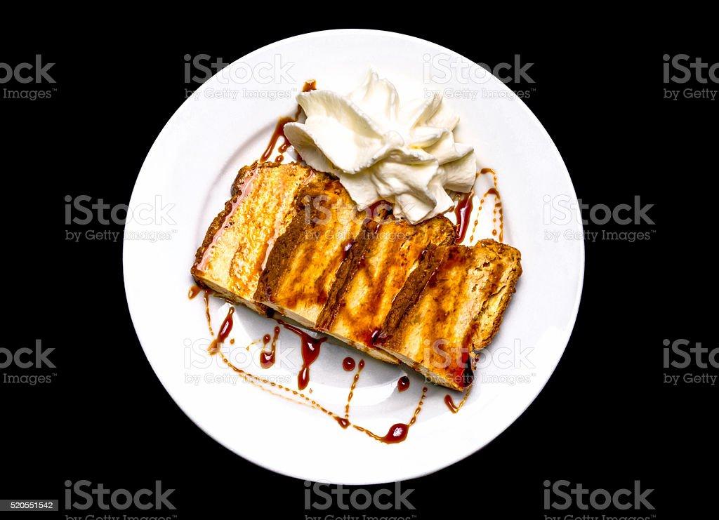 pudding cream butterfat superior cenital nata portion stock photo