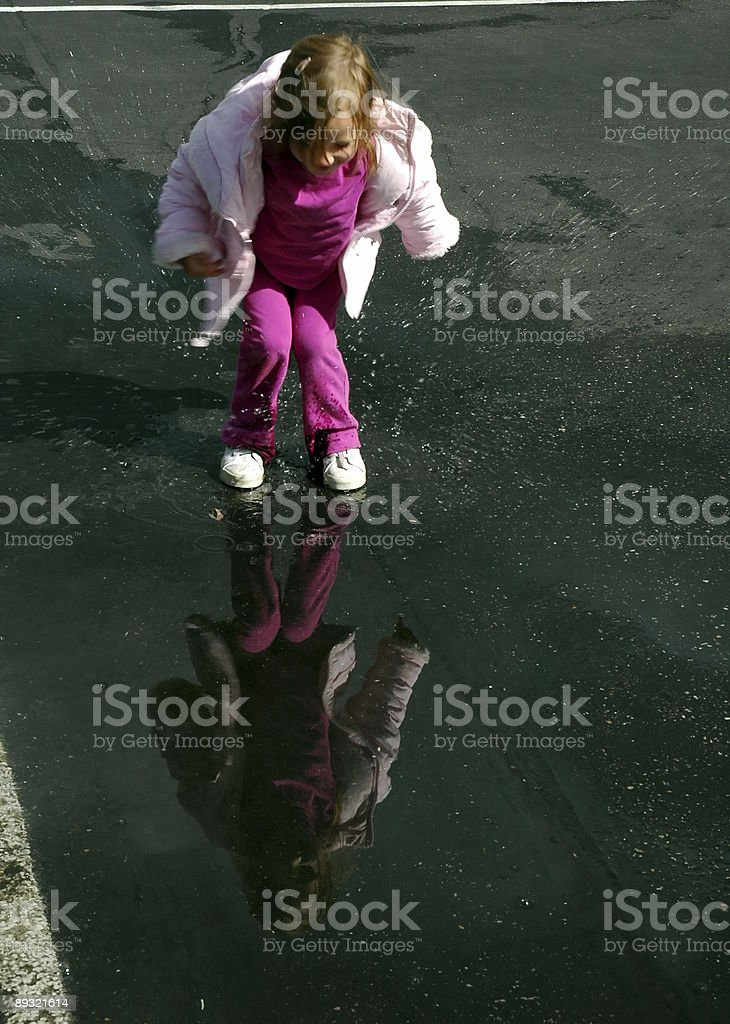 Puddle Jump stock photo