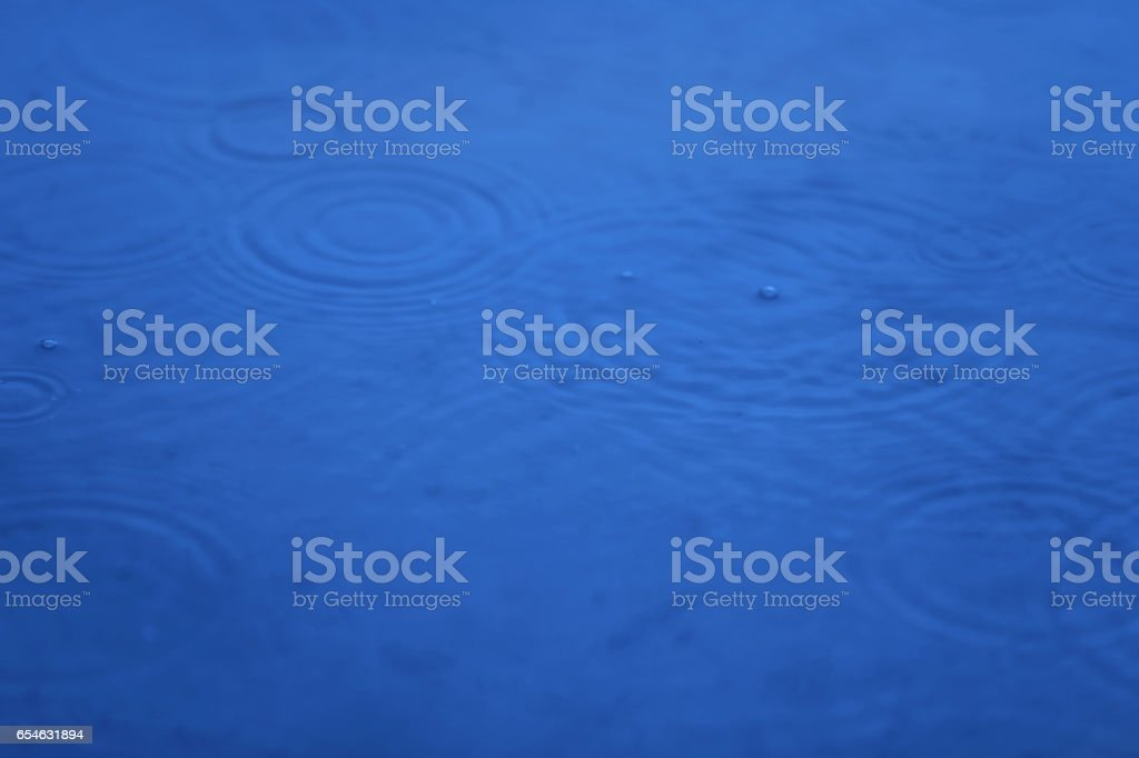 Puddle On A Rainy Day stock photo