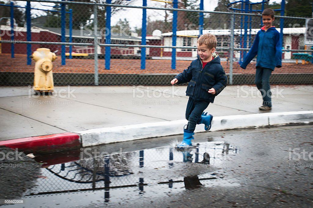 Puddles stock photo