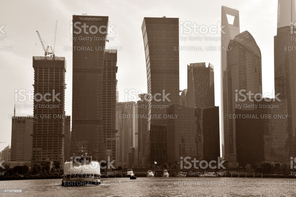Pudong financial district skyline, Shanghai stock photo