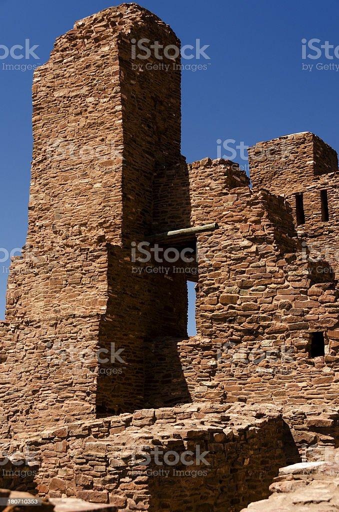 Pueblo Abo, New Mexico, USA royalty-free stock photo