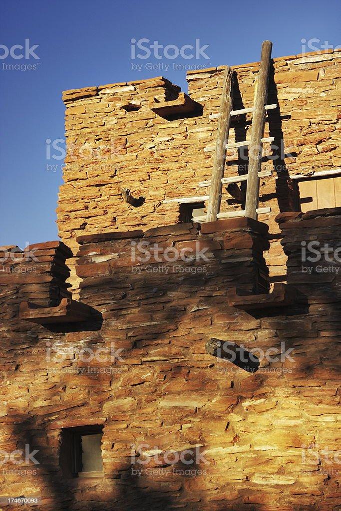 Pueblo Architecture Stone Fort Ruin stock photo