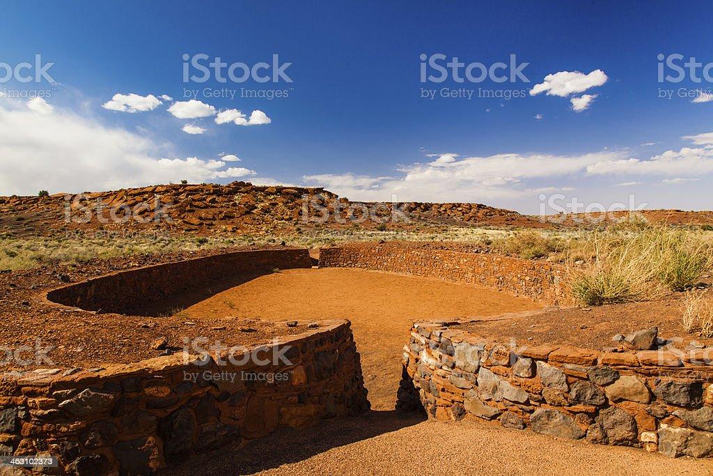 Pueblo Ballcourt royalty-free stock photo