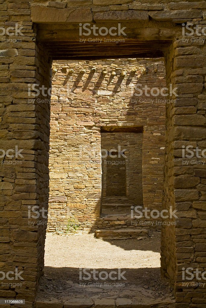 Pueblo Bonito Doorway royalty-free stock photo