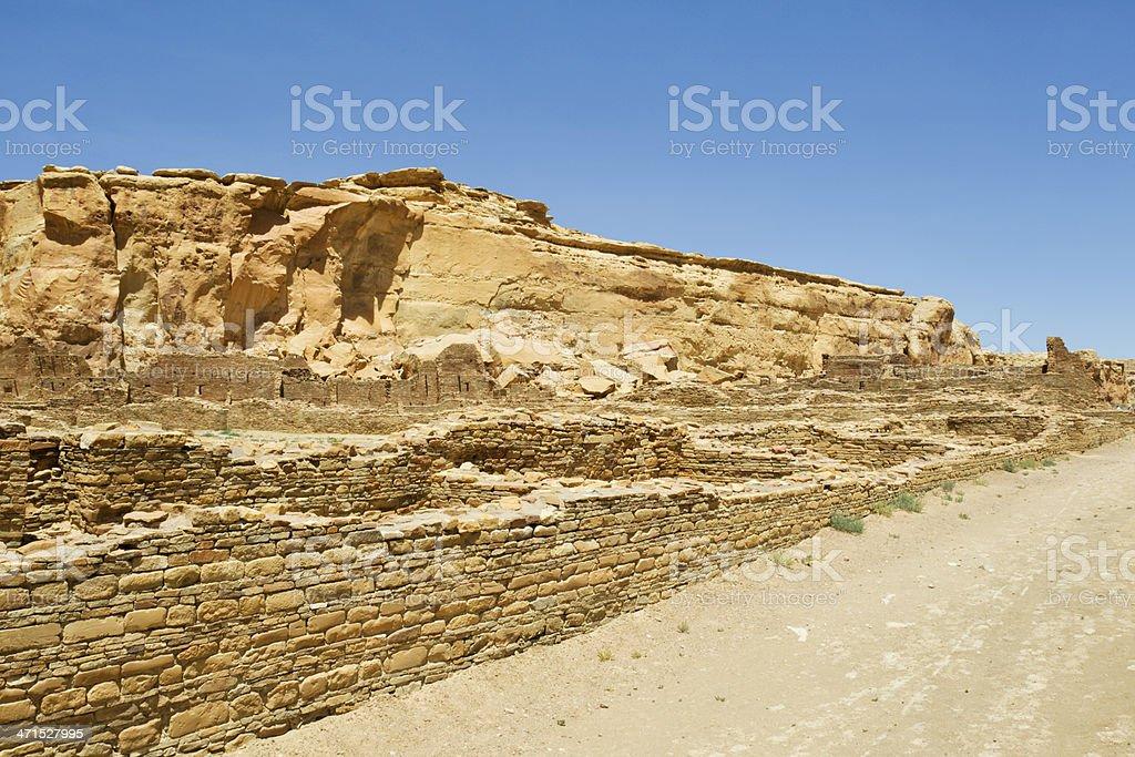 Pueblo Bonito Ruins - Chaco Culture National Historical Park stock photo