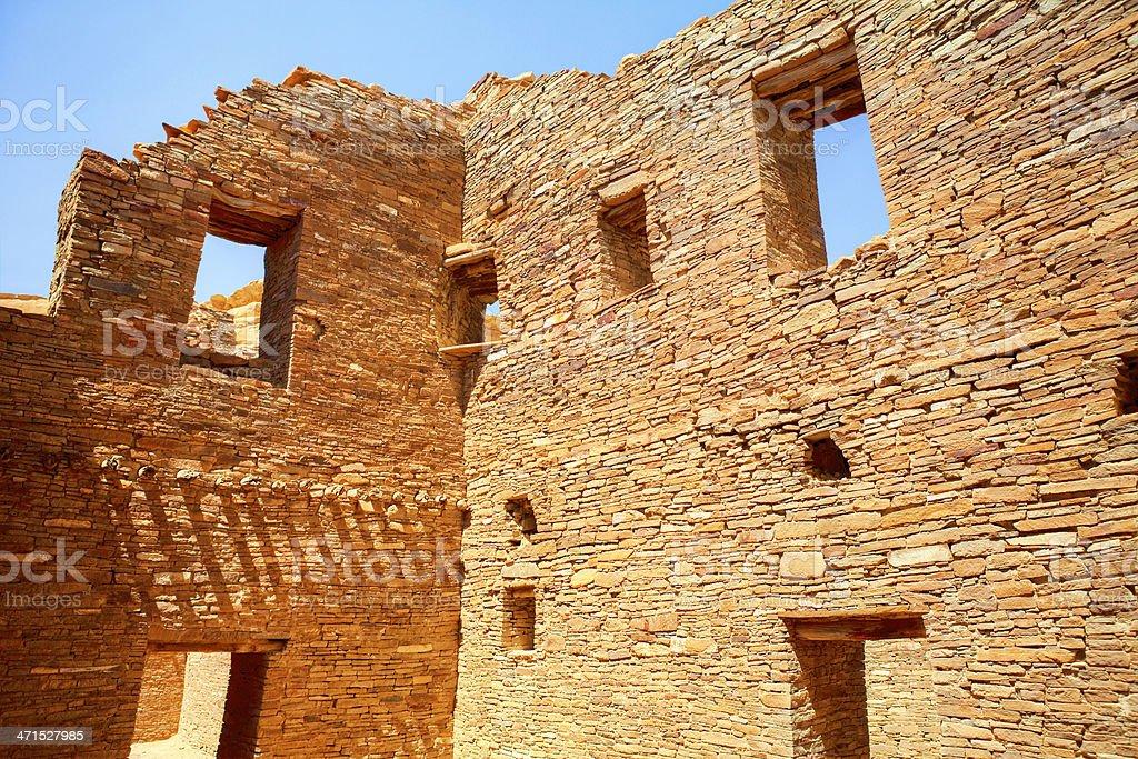 Pueblo Bonito Ruins HDR - Chaco Culture National Historical Park stock photo