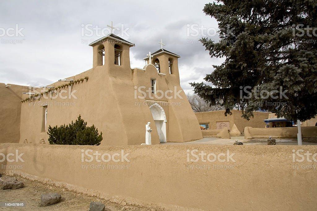 Pueblo church stock photo