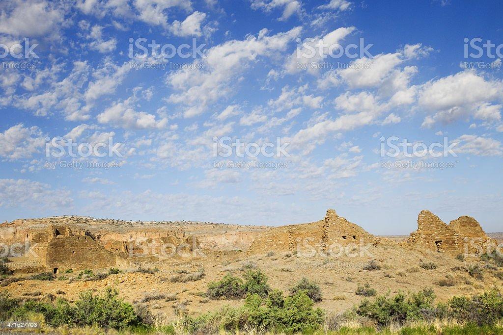 Pueblo del Arroyo Ruins - Chaco Culture National Historical Park stock photo