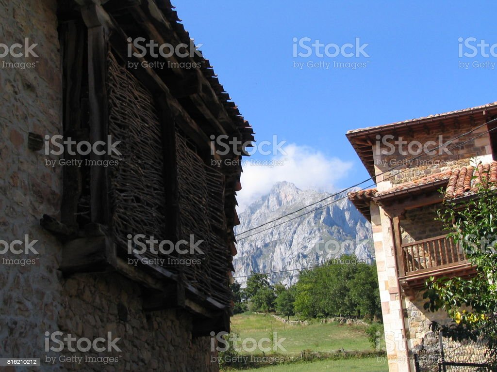Pueblo en Cantabria again stock photo