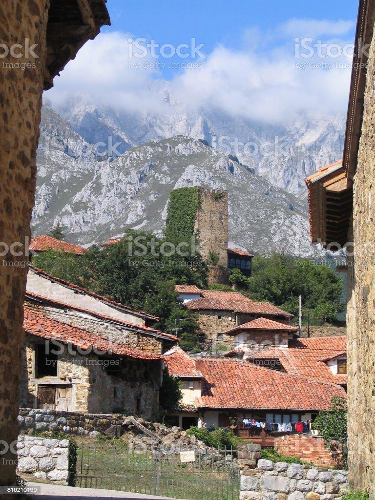 Pueblo en Cantabria stock photo