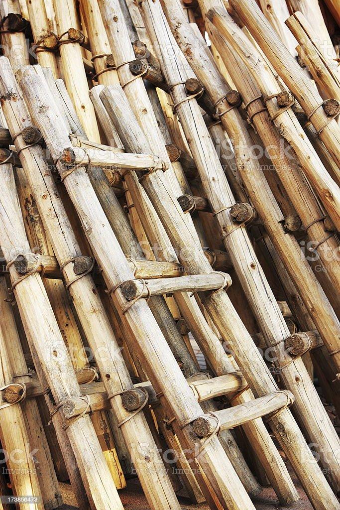 Pueblo Ladder Homemade Craft stock photo