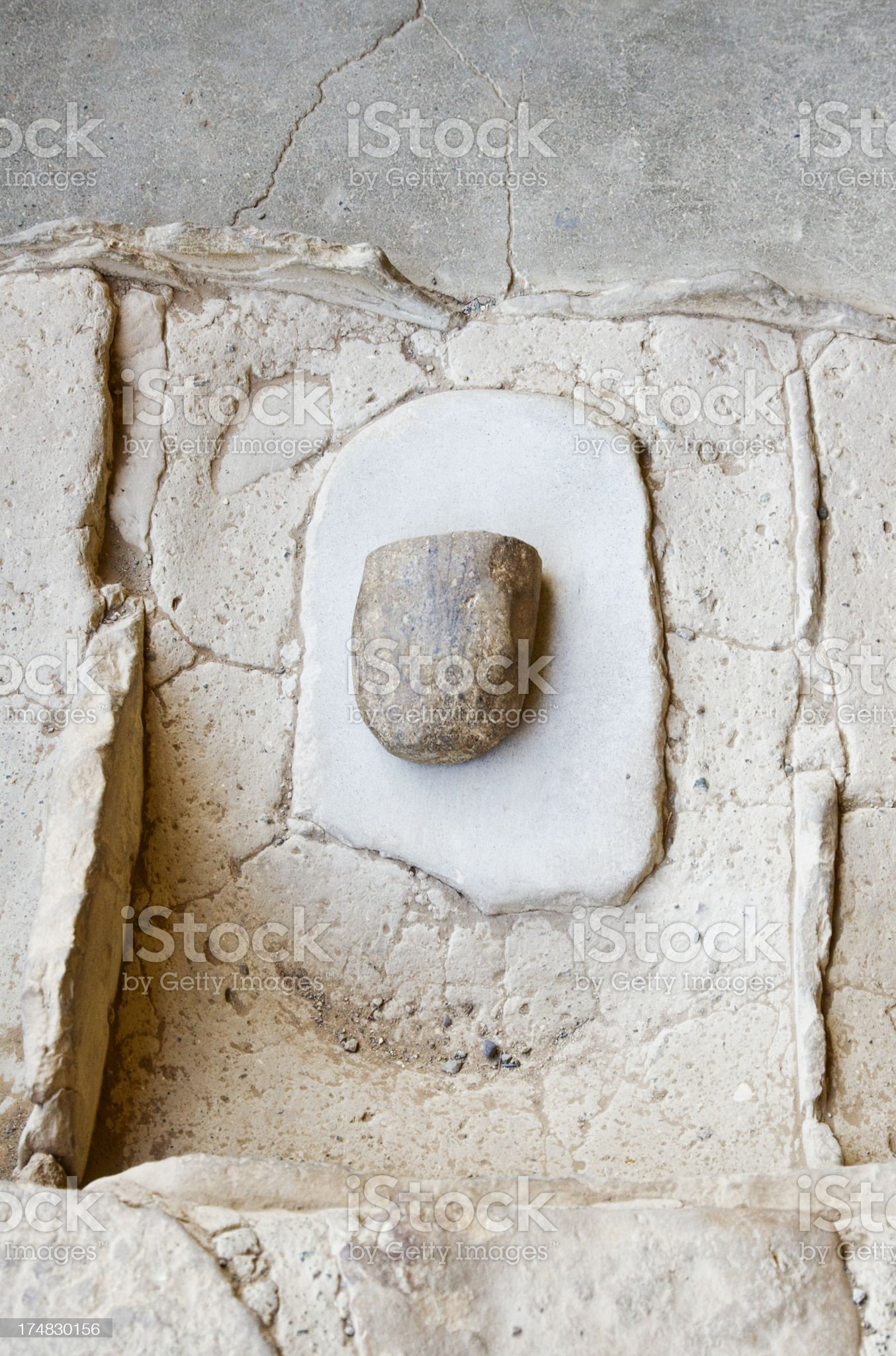 Pueblo Peoples Stone Grinding Tool royalty-free stock photo