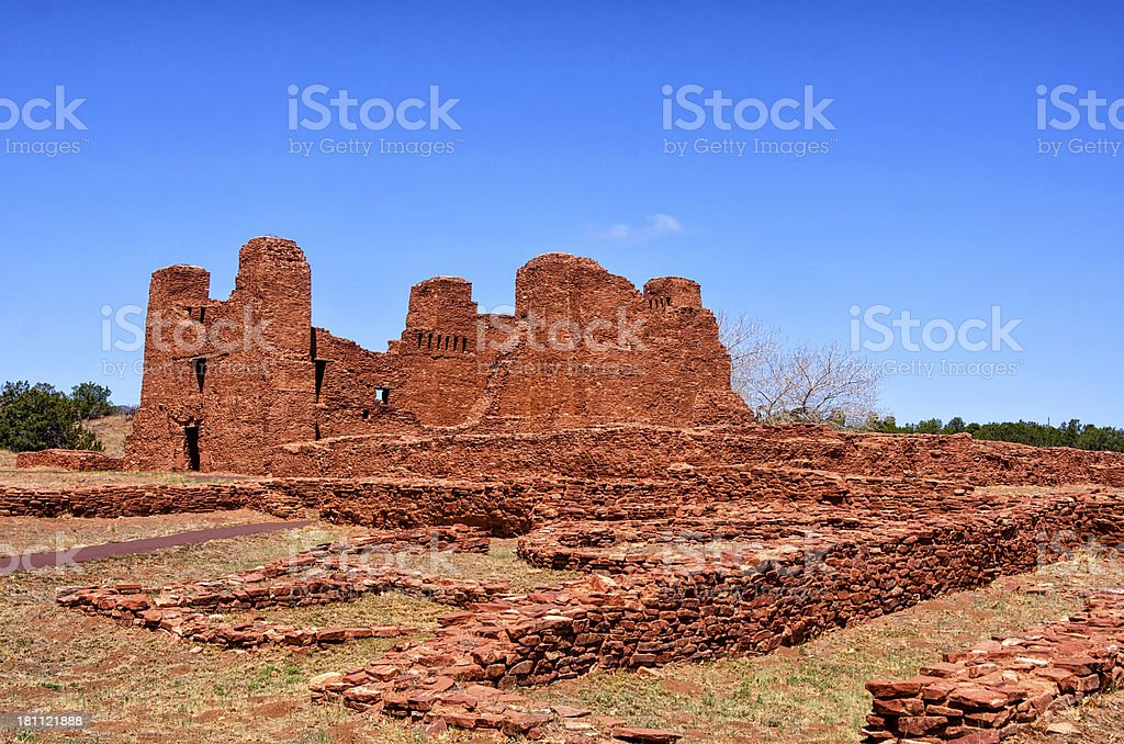Pueblo Quarai in New Mexico stock photo