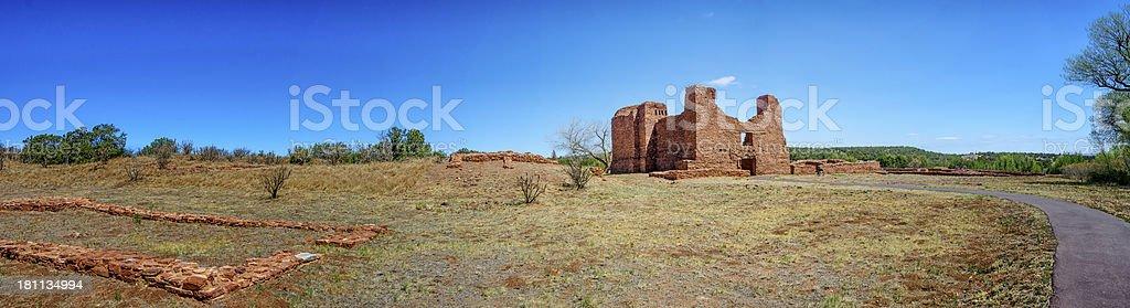 Pueblo Quarai in New Mexico royalty-free stock photo