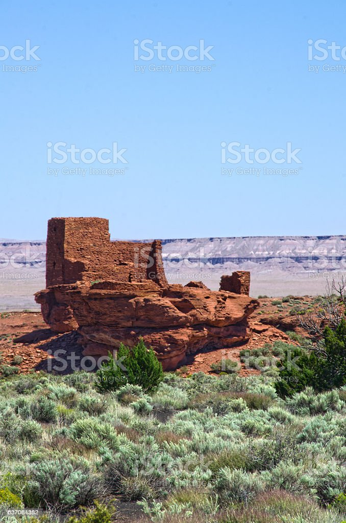 Pueblo Ruins in Wupatki National Monument stock photo