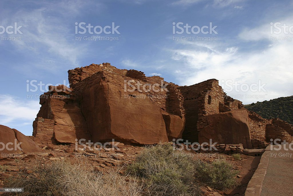 Pueblo Ruins stock photo