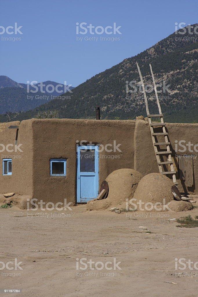 Pueblo village building, New Mexico stock photo