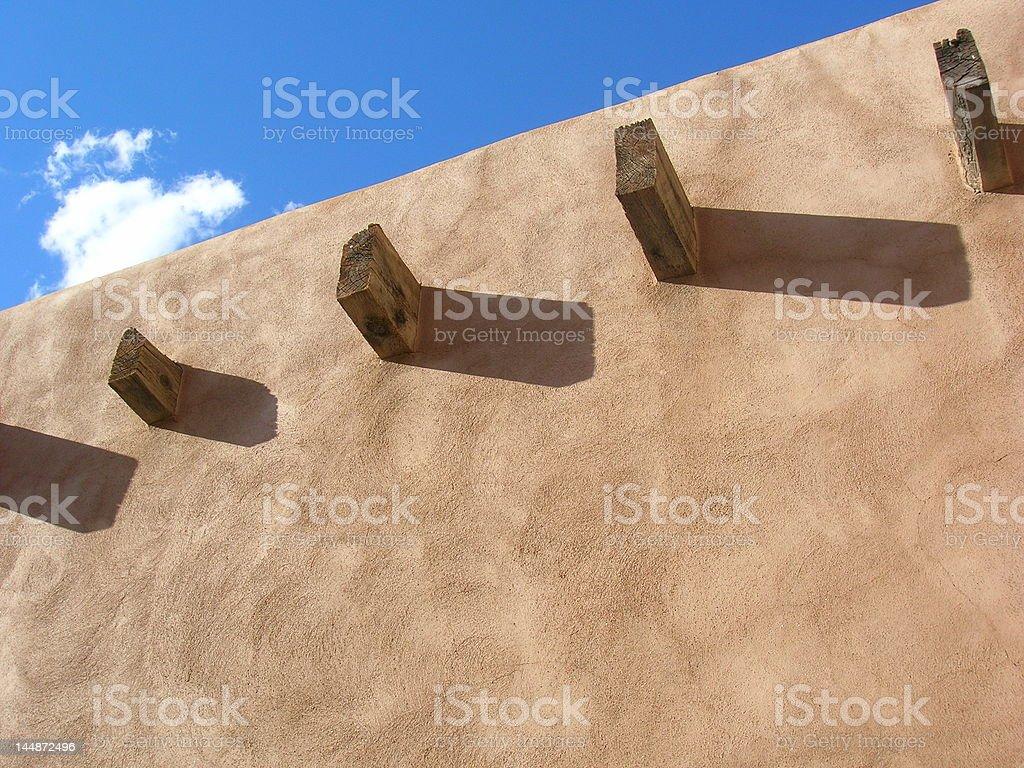 Pueblo Wall royalty-free stock photo