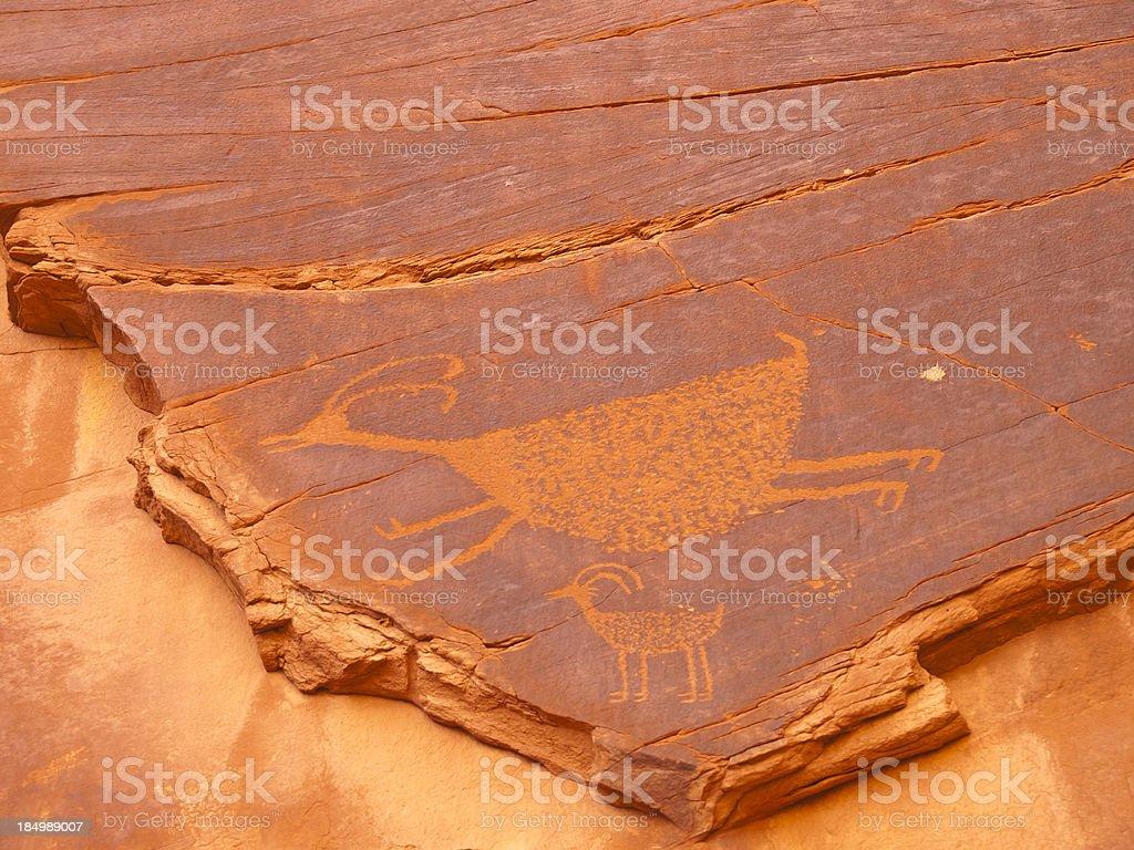 Puebloan petroglyphs stock photo