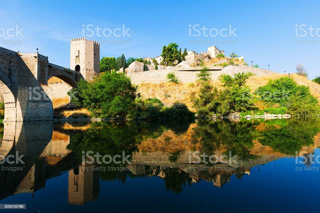 Puente de Alcantara in Toledo. Spain stock photo