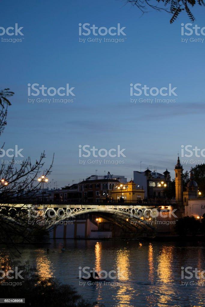Puente de Triana stock photo