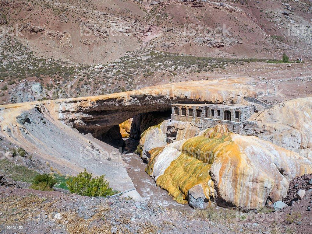 Puente del Inca, The Incas Bridge royalty-free stock photo