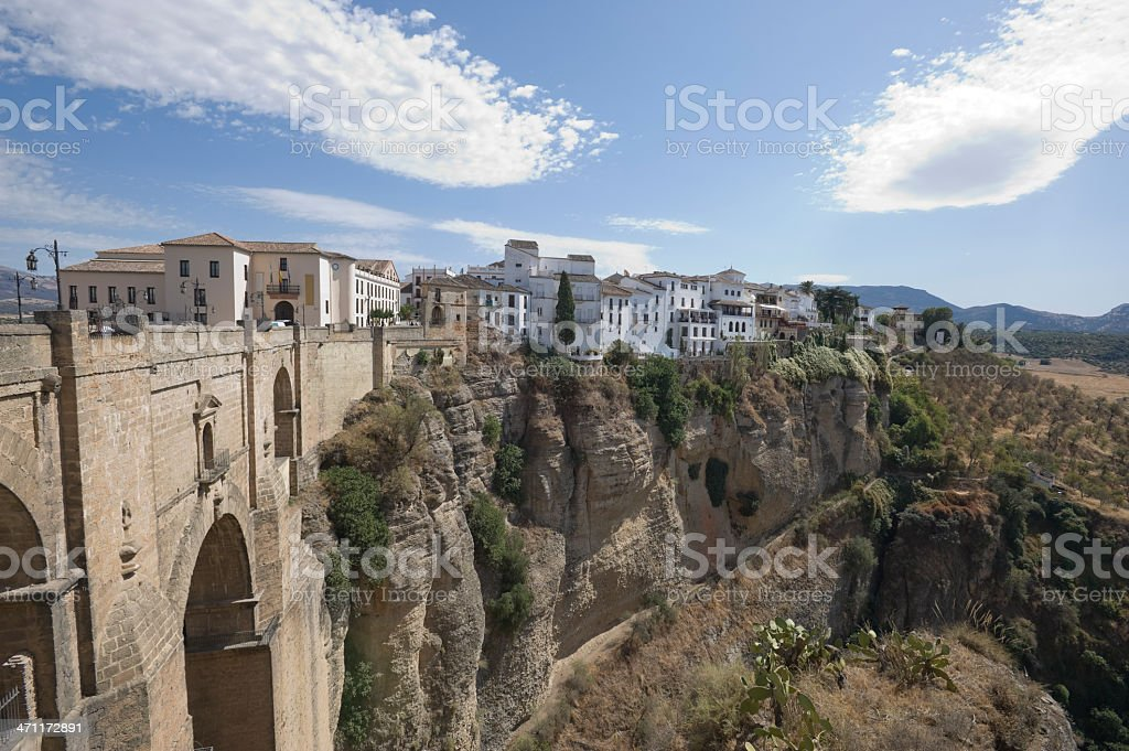 Puente Nuevo and Gorge in Ronda, Spain royalty-free stock photo